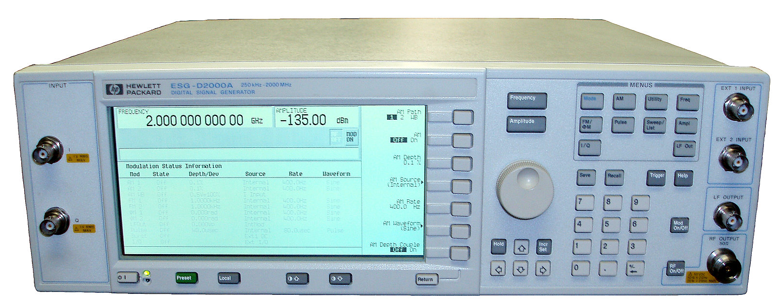 Agilent (HP) E4431A RF Signal Generator with Built-in Digital Modulation Formats for DECT, GSM, NADC, PDC, PHS, and TETRA