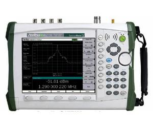 Anritsu MS2722C 9 kHz - 9 GHz Handheld Spectrum Analyzer for Measuring Field Strength and Occupied Bandwidth
