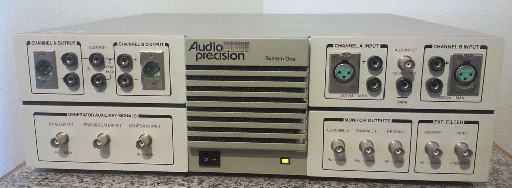 Audio Precision SYS-22 Audio Analyzer for Amplitude, Level, Ratio, Crosstalk, Frequency, Phase, THD + N