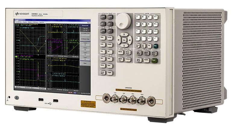 Keysight (Agilent) E4990A Impedance Analyzer, 20 Hz to 10/20/30/50/120 MHz
