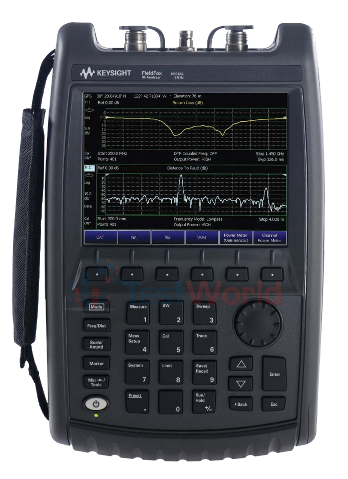 Keysight (Agilent) N9912A FieldFox Handheld RF Combination Analyzer, 4 and 6 GHz
