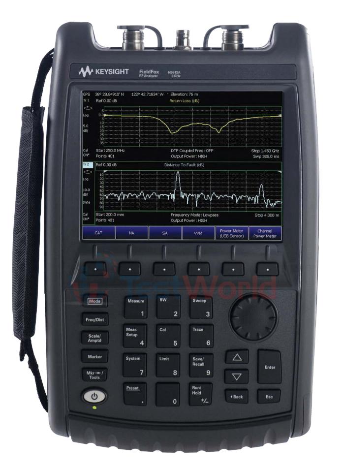 Keysight (Agilent) N9912A FieldFox Handheld RF Combination Analyzer, 4 and 6 GHz