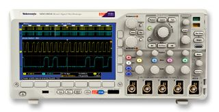 Contact TestWorld to get the best pricing on a used/refurbished Tektronix MDO4034 350 MHz, 4+16-Ch, 3 GHz RF Mixed Domain Oscilloscope. DMM Power Analyzer. Rental and financing/lease options available.