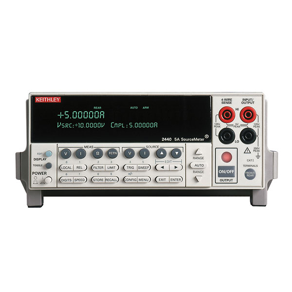 Keithley 2440 5A SourceMeter w/ Measurements up to 40V and 5A, 50W Power Output