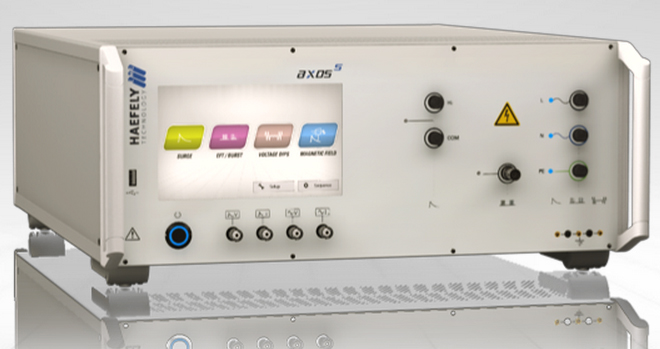 Haefely AXOS5 EMC Impulse Generator for Surge, Burst/EFT & Dips, Drops & Interrupts
