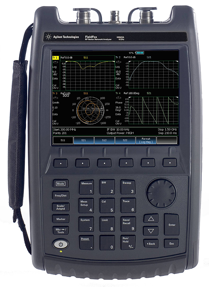 Keysight (Agilent) N9923A FieldFox RF Vector Network Analyzer, 2 MHz to 4 GHz/6 GHz