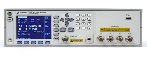 Keysight (Agilent) E4981A Capacitance Meter, 120 Hz/1 kHz/1 MHz