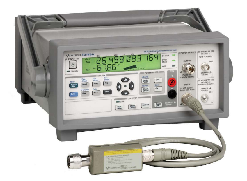 Keysight (Agilent/HP) 53148A 26.5 GHz Microwave Frequency Counter/Power Meter