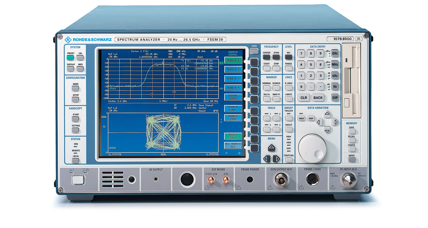 Rohde & Schwarz FSEA30 Spectrum Analyzer GSM, Q-CDMA, W-CDMA, WLAN and More