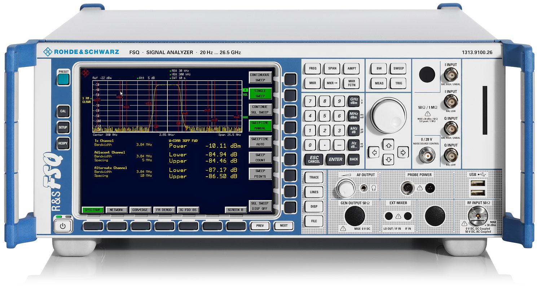 Rohde & Schwarz FSQ26 High-End Spectrum & Signal Analyzer, 20 Hz - 26.5 GHz
