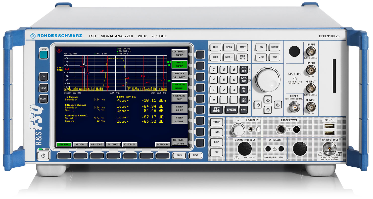Rohde & Schwarz FSQ26 High-End Spectrum & Signal Analyzer, 20 Hz - 26.5 GHz