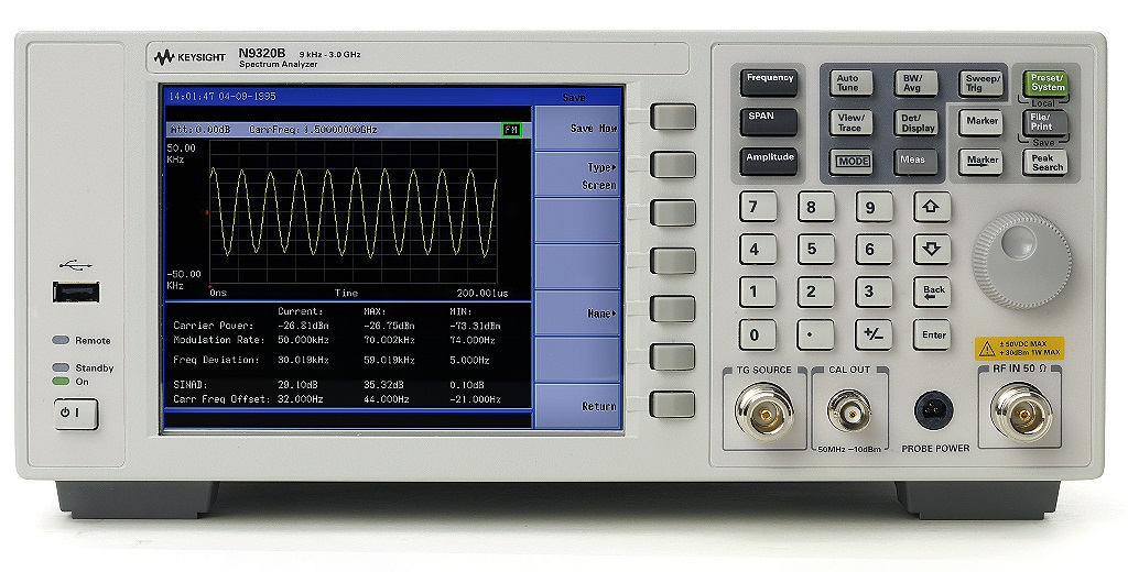 Keysight (Agilent) N9320B RF Spectrum Analyzer, 9 kHz to 3 GHz