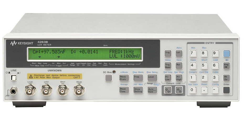Keysight (Agilent/HP) 4263B LCR Meter, 100 Hz to 100 kHz