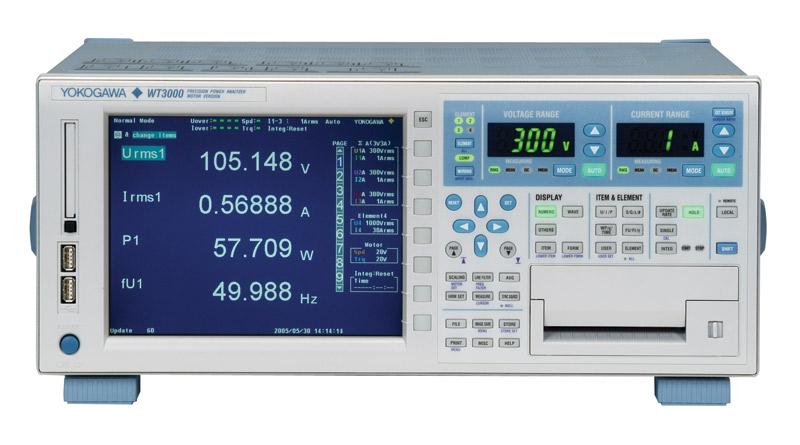 Yokogawa WT3000 Precision Power Analyzer