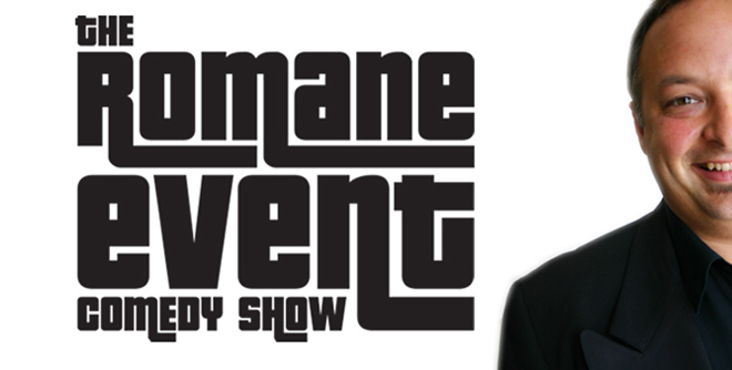 The Romane Event Comedy Show Logo