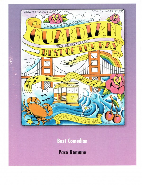 Best Comedian: SF Bay Guardian