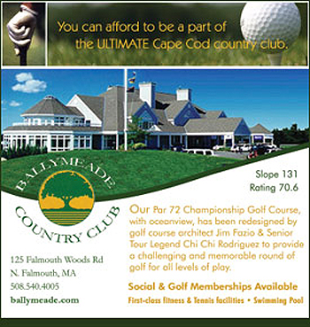 Professional Ad Design for Ballymead Country Club and Cape Cod View Magazine.