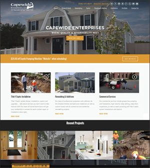 Construction Company WordPress website by Insite Media Design