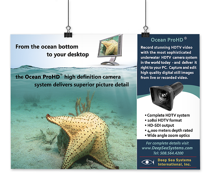 Magazine Ad Design for an ocean technology company in MA