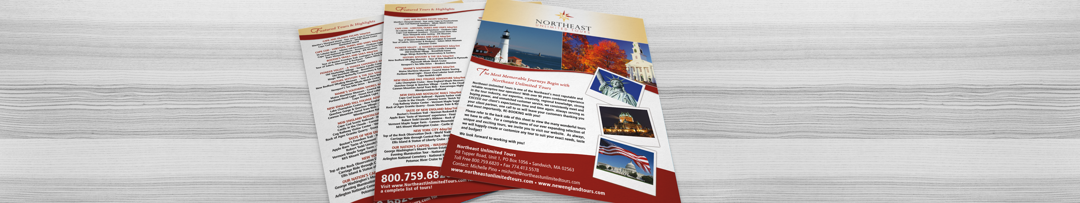 Flyer and Sell Sheet Design on Cape Cod and Massachusetts