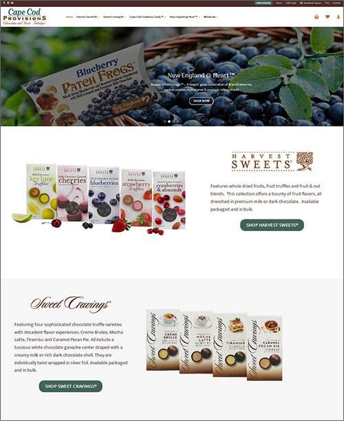 visit cape cod provisions website - ecommerce