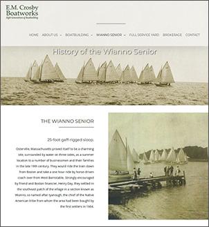 visit e.m. crosby boatworks website