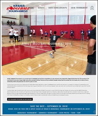 Tournament website design