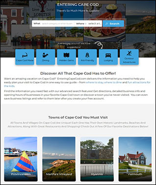 vacation directory website design