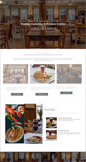 restaurant website snapshot