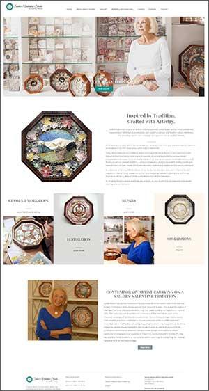 artist portfolio website