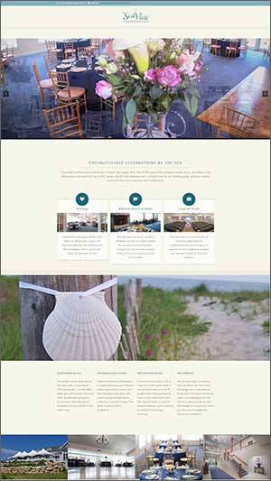 wedding reception website design