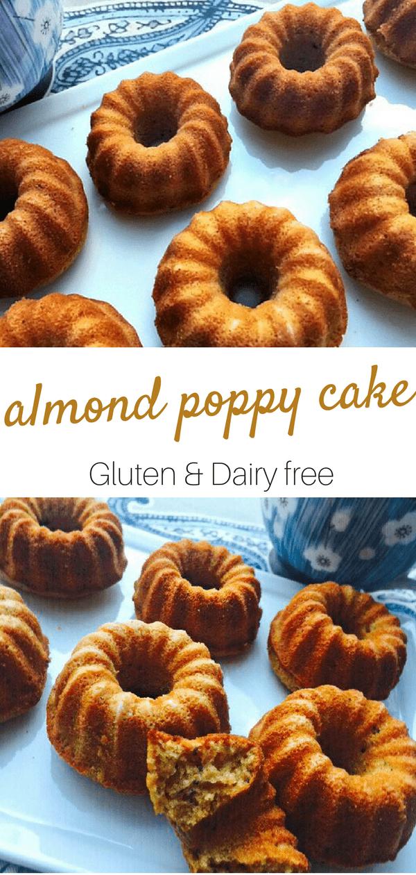 Gluten Free Almond Poppy Cake