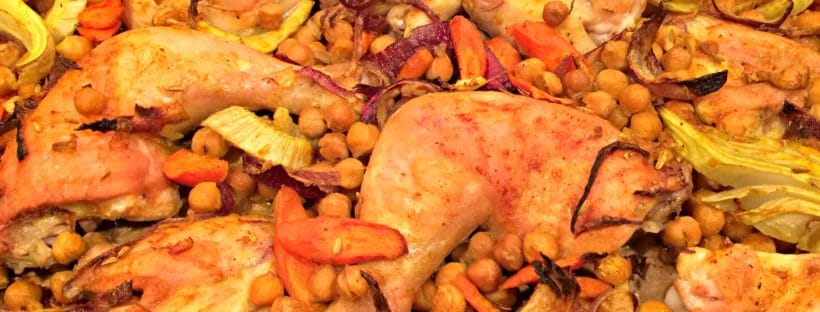 sheet pan chicken with chickpeas