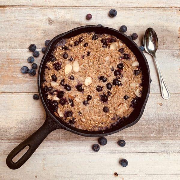 Blueberry Skillet Baked Oatmeal