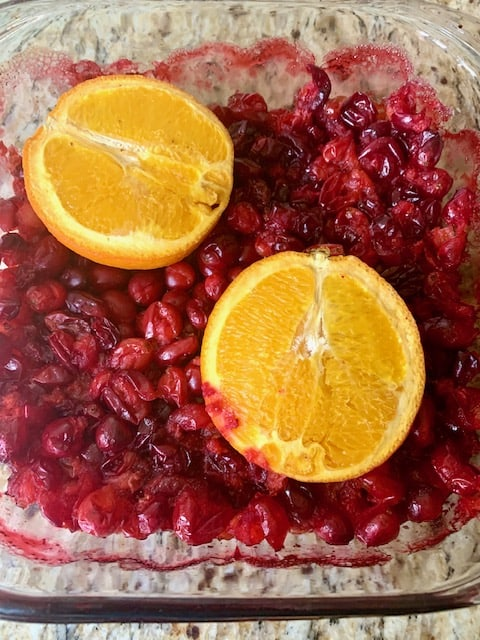 Gingery Roasted Cranberry Sauce