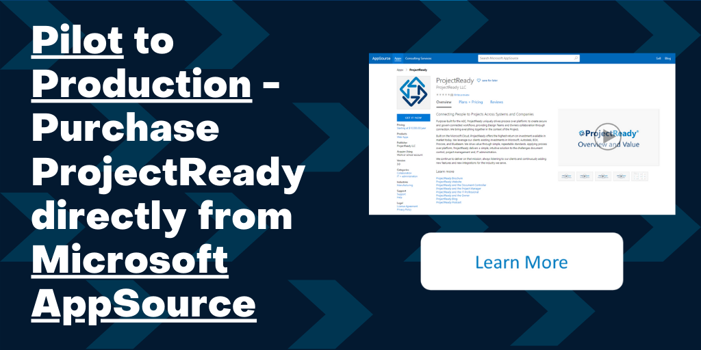 ProjectReady Now Available on Microsoft AppSource