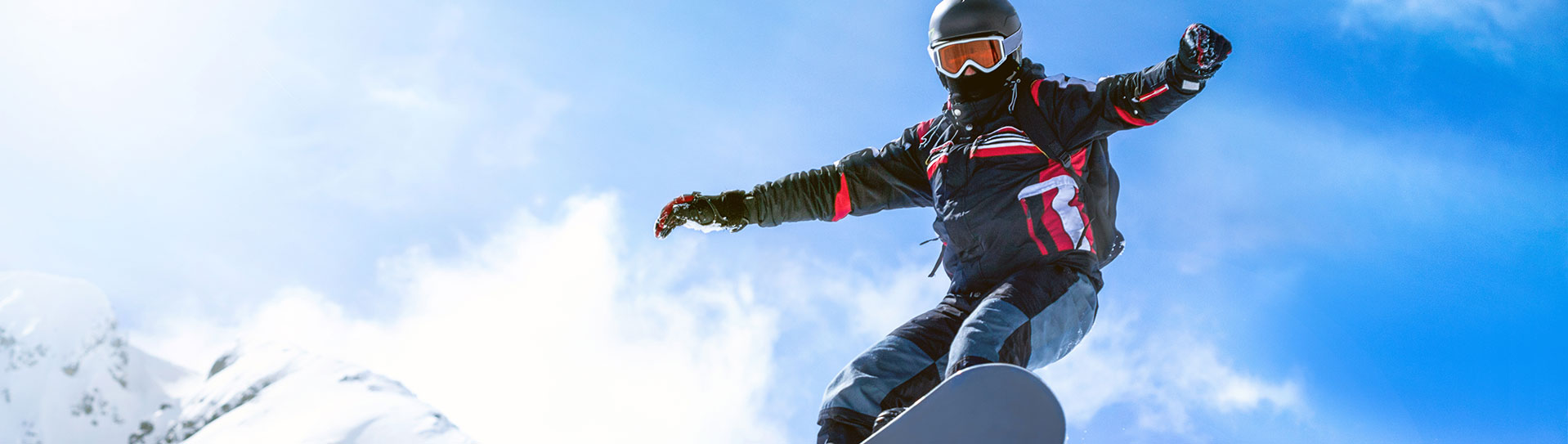 image of a snowboarder