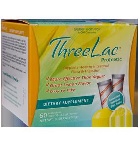 Threelac probiotic packets box