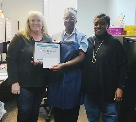Congratulations to Denise Joyner for 15 years of service at Cablecraft
