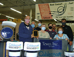 Cablecraft Assembler Award for largest non-traditional application goes to Tewco Inc.