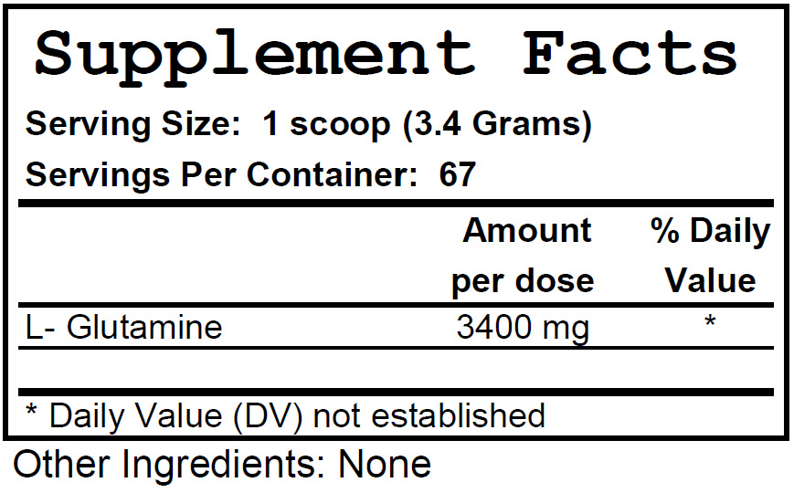 GlutaminePowder_ingredients