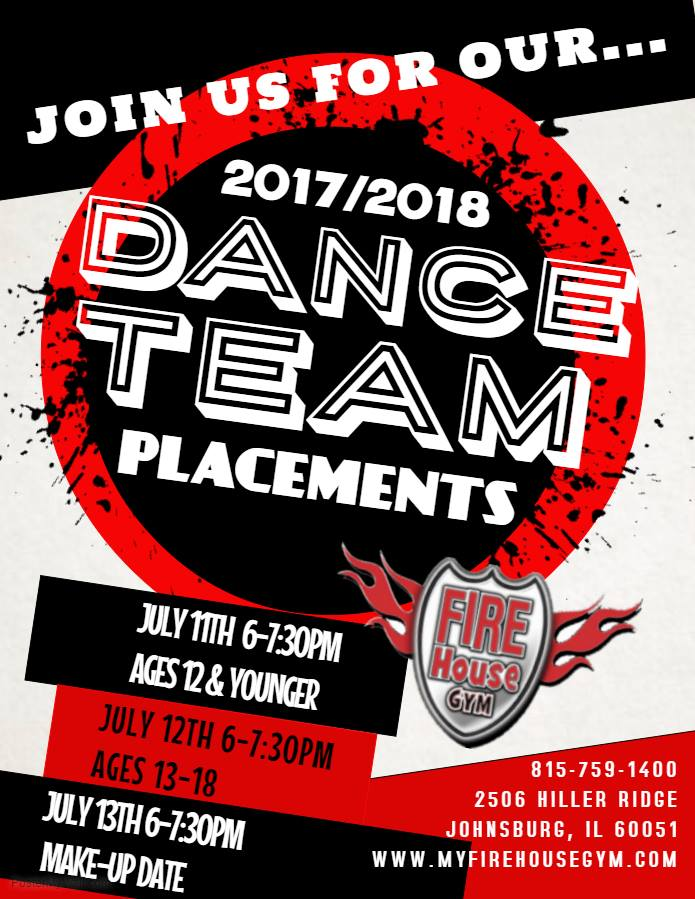2017-2018 Dance Team Placements