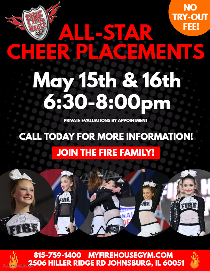 2019-2020 Cheer Team Placements