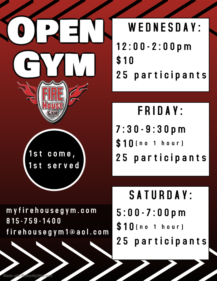 Updated Open Gym Times