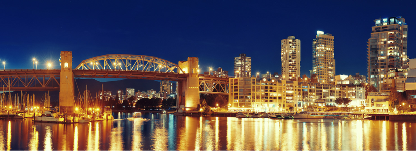 Burrard Bridge, False Creek, Vancouver, BC
