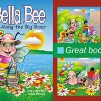 Bee book for kids: AggieBella Bee: Along the Big River - bee learning activities