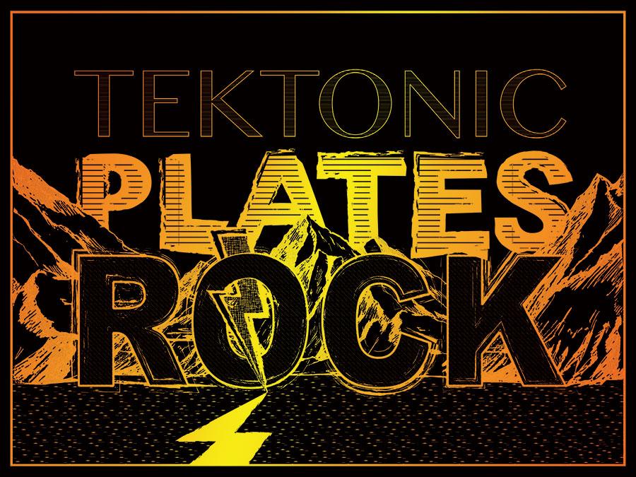Tektonic Plates Rock - Shirt Design