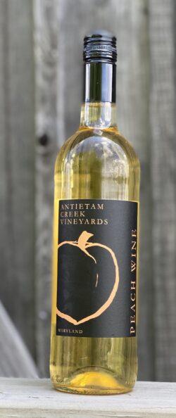Peach wine 2019 bottle