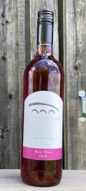 2019 Rosé wine bottle
