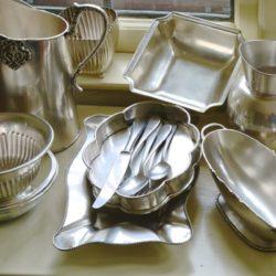 Axton Rectangular Silver Metal Tray (medium)